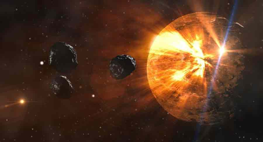 astéroïde soleil