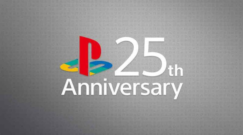 PlayStation logo 25 ans
