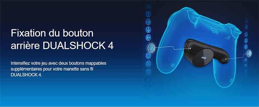 Fixation du bouton arrière PlayStation