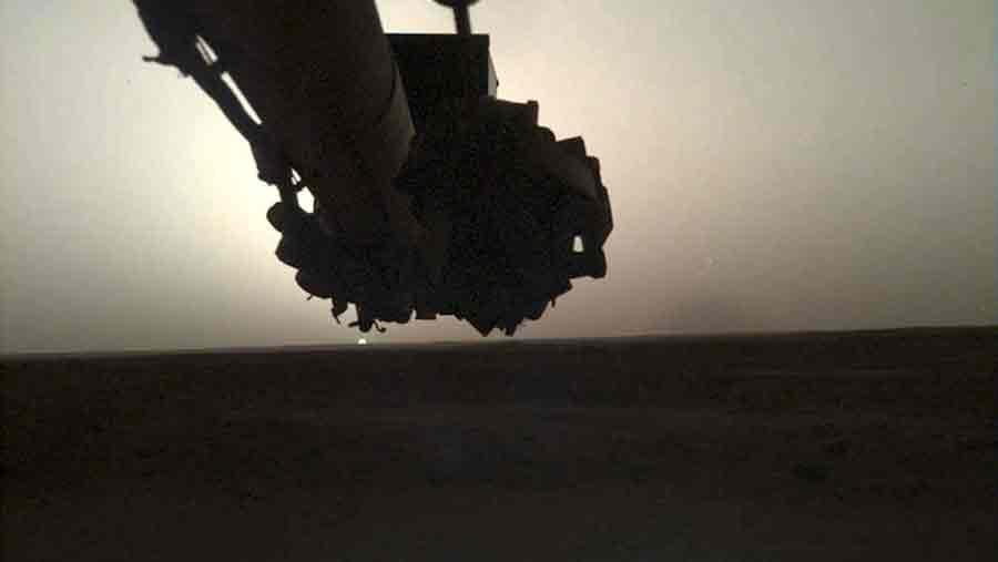 lever soleil insight mars nasa