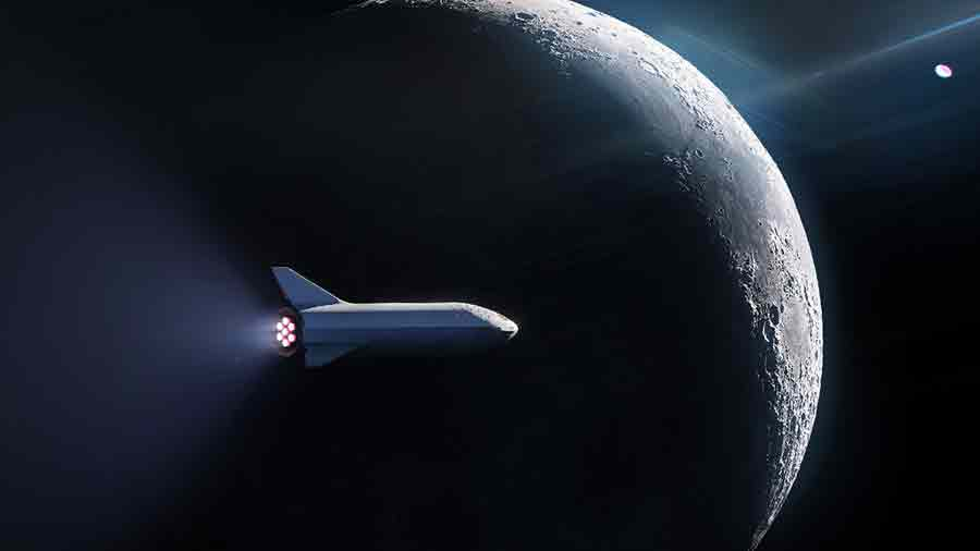 SpaceX Lune